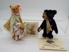 Small Bears For A Big World - Theresa Young black bear named Ebon in Mint condition with