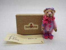 Witney Bears - Louise Peers limited edition pink and purple bear named Mixie.