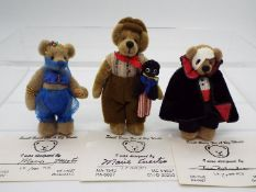 Small Bears For A big World - Tina Richardson bear in cloak and mask named Phantom in Mint