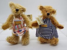 Hardy Bears - June Kendall limited edition mohair bear named Hugh,