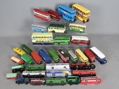 Corgi - EFE - A collection of 35 loose diecast trucks and bus models mostly in 1:76 scale with