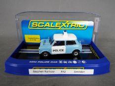 Scalextric - Morris Mini Heddlu limited edition,
