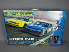 Scalextric - Stock Car Challenge set with 2 x Chevrolet Monte Carlo slot cars. # C1383.
