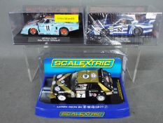 Sideways - Scalextric - 3 x Lancia slot cars.