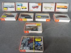 Wiking - A collection of 10 boxed plastic N gauge model commercial vehicles,