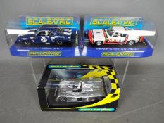 Scalextric - 2 x Chevrolet and 1 x Cadillac slot cars.