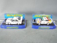 Scalextric - 2 x Audi Sport quattro models # C3487 as driven by Michele Mouton on the 1985 Ulster