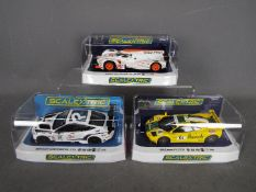 Scalextric - 3 x cars, Bentley Continental GT3 in Team Parker racing livery,