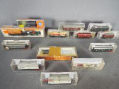 Fleischmann, Roco, Arnold - A siding of 13 boxed items of N gauge rolling stock.