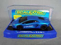 Scalextric - Lamborghini Aventador Polizia limited edition. # MM C3264.