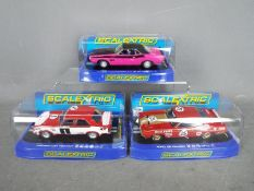 Scalextric - 3 x cars, Dodge Challenger T/A Six Pack in Panther Pink,