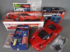 Tamiya - An assembled and boxed Tamiya #58302 1:10 scale R/C Enzo Ferrari 4WD High Performance