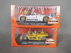 Slot-it - 2 x cars, the 1985 Spa winning Lancia LC2 and a 1973 Alfa Romeo 33/3 # CA21b, # CA11e.