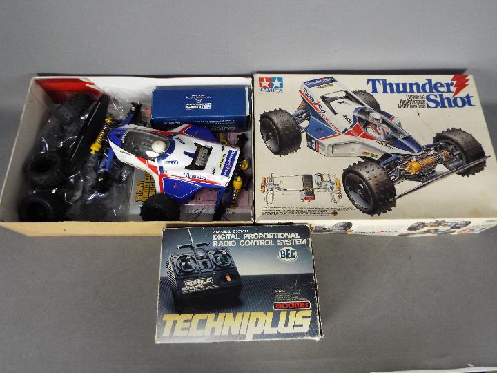 Tamiya - An assembled and boxed vintage Tamiya #58067 1:10 scale R/C 'Thunder Shot' High