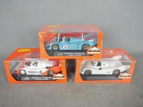 Slot-it - 3 x Porsche 356KH slot cars including a Gulf liveried car,
