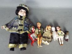 Tudor Rose, German Dolls, Other - A collection of vintage plastic,celluloid and bisque dolls.