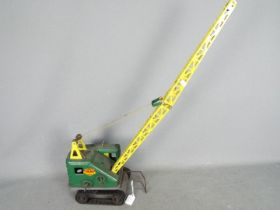 Marx - An unboxed vintage pressed steel 'Lumar Contractors' High Lift Mobile Crane by Marx.
