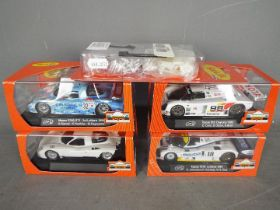 Slot-it - A group of 4 x cars including 2 x Nissan R390 GT1 cars, a Mazda 787B and a Toyota 88C.