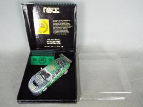Scalextric - NSCC - A limited edition Jaguar XKR GT3 in snow covered finish,