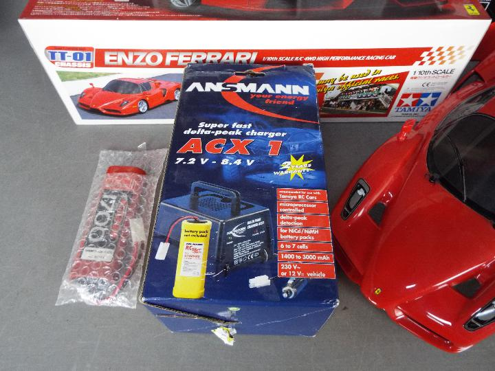 Tamiya - An assembled and boxed Tamiya #58302 1:10 scale R/C Enzo Ferrari 4WD High Performance - Image 3 of 4