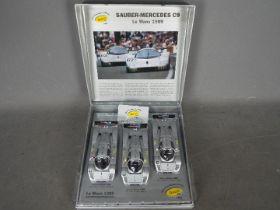 Slot-it - A limited edition 3 x car Sauber-Mercedes C9 Le Mans set,