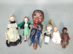Zapf Creation, Other - A collection of five mainly vintage dolls,