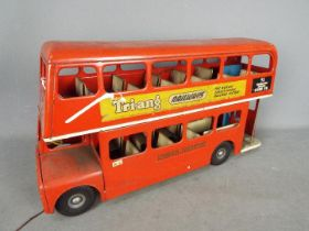 Triang - An unboxed large pressed steel Triang Routemaster Bus.