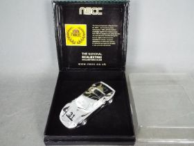 Scalextric - NSCC - A rare Ford GT40 in chrome finish with National Scalextric Collectors Club