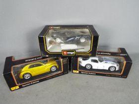 Withdrawn - Maisto, Bburago - Three boxed 1:18 scale diecast model cars.