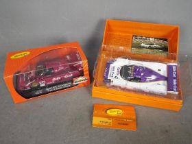 Slot-it - 2 x Jaguar XJR12 Le Mans slot cars including a pink Silk Cut liveried car and a limited