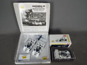Slot-it - A 2 x car Chaparral 2E limited edition set with a single boxed car. # CW08, # CA16B.