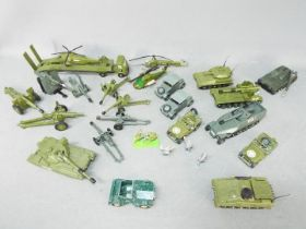 Dinky - Matchbox - Britains - A collection of 21 x loose Military vehicles including # 654 155mm