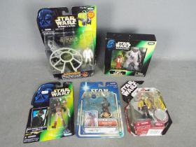 Kenner - Hasbro - Star Wars - A collection of 5 x boxed / carded figures including Kenner The Power