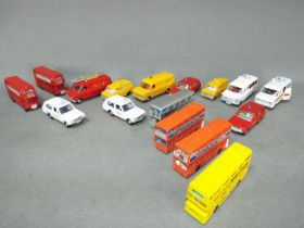 Dinky - A collection of 16 x loose vehicles including # 271 Ford Transit fire service,
