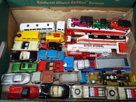 Corgi - Matchbox - A collection of 24 x loose vehicles including # 1136 Ford Continental Car