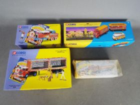 Corgi Classics - A collection of 4 x boxed Showmans Range vehicles including # 97957 ERF 8 Wheel