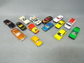 Corgi - A collection of 14 x loose vehicles in 1:36 scale including # 343 Ford Capri 3.