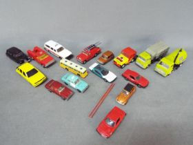 Dinky - Corgi - A collection of 16 x loose vehicles including # 1009 MG Maestro,