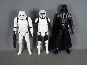 Jakks Pacific - Star Wars - 3 x 18 inch jointed figures, Dart Vader, Storm Trooper, Scout Trooper.