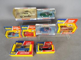 Dinky - Matchbox - A collection of 8 x boxed vehicles including # 192 Range Rover, # 344 Land Rover,