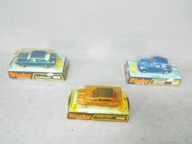 Dinky - A group of 3 x cars, # 129 Volkswagen 1300 Beetle Sedan, # 149 Citroen Dyane,