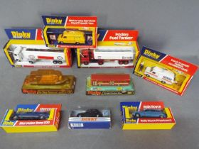 Dinky - A collection of 9 x boxed vehicles including # 950 Foden Burmah petrol tanker,
