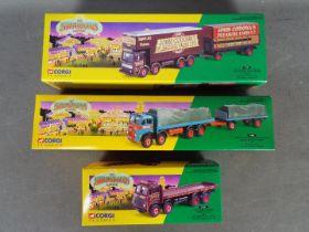 Corgi Classics - 3 x boxed Showmans Range models including # 21701 AEC Closed Pole Truck with