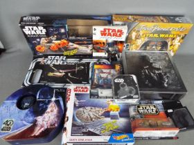 Kenner - Parker - Hot Wheels - A group of Star Wars items including Saga Edition Trivial Pursuit,