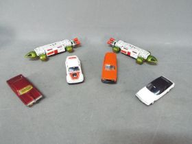 Dinky - A collection of 6 x vehicles including 2 x 359 Eagle Transporters, # 173 Pontiac Parisienne,