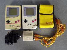 Nintendo - Game Boy - 2 x 1989 dated Nintendo Game Boy DMG-01 models,