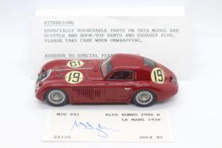 MPH Models, Tim Dyke - A boxed MPH Models #992 Alfa Romeo 2900B Le Mans 1938,