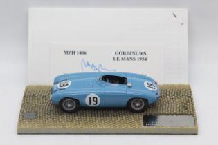 MPH Models, Tim Dyke - A boxed MPH Models #1406 Gordini 36S Le Mans 1954 'J.Behra / A.