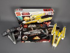 Lego - 2 x boxed sets, # 7663 Sith Infiltrator, # 8037 Anakin's Y-wing Starfighter.