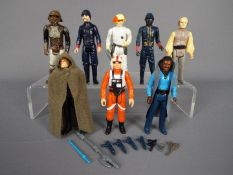 Star Wars - Eight unboxed action figures to include Lando Calrissian ©1980 LFL Made In Hong Kong,